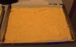 The dough is ready for the fruit
